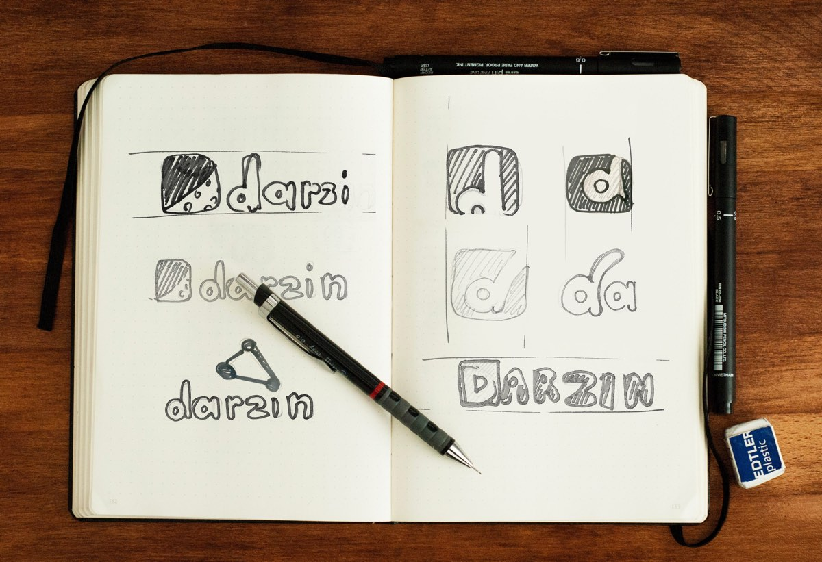Darzin-Logo-sketches